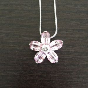 Beautiful Pink Flower Necklace Park Lane Jewelry